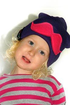 czapki ciemny fiolet od CHAPOOSIE
