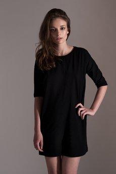 tunic black/ organic cotton - SISS - Dresses and tunics